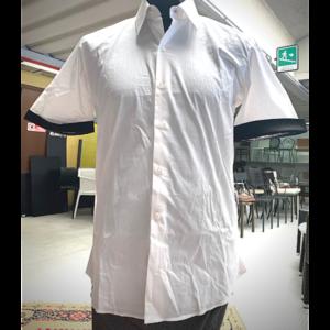 camicia con bordo marrone